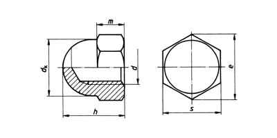 Piuliță ornamentală - înfundată - DIN 1587