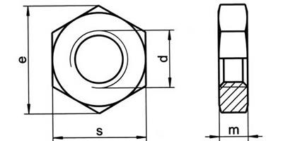 Piuliță hexagonală îngustă DIN 439