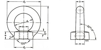 Piuliță de ridicare - ochi de ridicare - DIN 582
