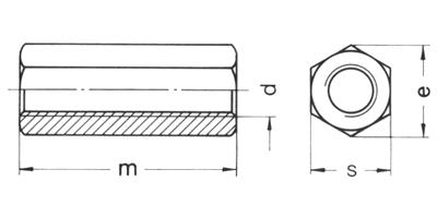Piuliță de cuplare - înaltă - DIN 6334