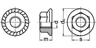 Piuliță cu flanșă DIN 6923
