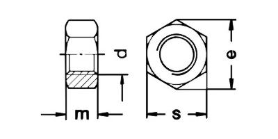 Piuliță hexagonală DIN 934